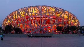 Beijing Olympic park at dusk  4k Stock Images