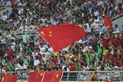 Beijing Olympic Soccer - Belgium v. China Stock Photography