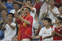 Beijing Olympic Soccer - China v. Sweden Stock Photos