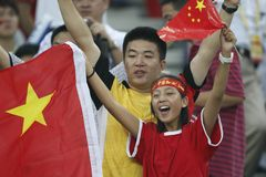 Beijing Olympic Soccer - China v. Sweden Royalty Free Stock Photos