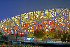 beijing olympic stadion Royaltyfria Foton