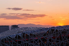 Beijing Olympic stadium. The Olympic stadium in Beijing Stock Image