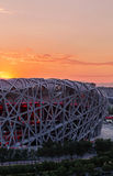 Beijing Olympic stadium. The Olympic stadium in Beijing Royalty Free Stock Photos
