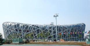 Beijing olympic stadium Royalty Free Stock Images