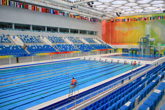 Beijing 2008 Olympic Swimming Pool. The Olympic swimming pool internal details Royalty Free Stock Photo