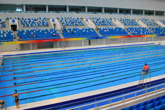 Beijing 2008 Olympic Swimming Pool. The Olympic swimming pool internal details Royalty Free Stock Images