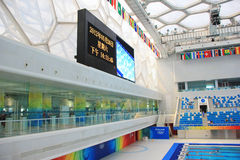 Beijing 2008 Olympic Swimming Pool. The Olympic swimming pool internal details Stock Photo