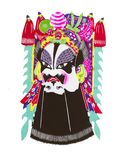 Beijing Opera Facial Masks vector illustration