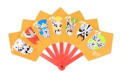 Beijing opera facial types fan Stock Photo