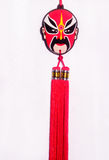 Beijing opera mask. With braid Stock Photography