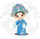 Beijing Opera Peking Opera Cartoon Chinese Traditional Art Hand drawn Illustration stock illustration