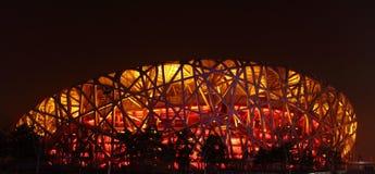 Beijing OSstadion Royaltyfri Fotografi