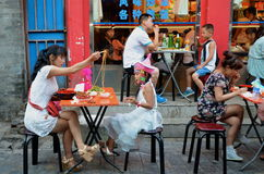 Beijing Outdoor Restaurant Royalty Free Stock Photos
