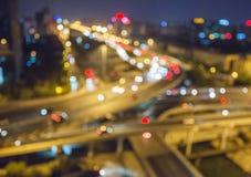 Beijing overpass at night Royalty Free Stock Photos