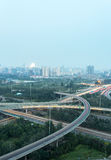 Beijing overpass at night Stock Photography