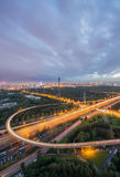 Beijing overpass at night Stock Image