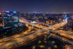 Beijing overpass Night Stock Photo