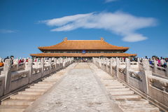Beijing Palace Museum Taihe Temple Square Stock Photography