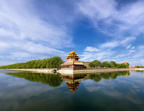 Beijing Palace turret panorama Royalty Free Stock Photography