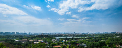 Beijing Panorama Panoramic. The view of Beijing on a clear day Stock Image