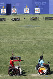 Beijing Paralympic Game 2008. Here is the Beijing Paralympic Games archery venue Royalty Free Stock Photography