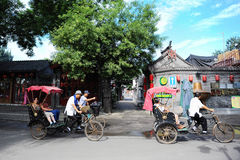 Beijing pedicab hutong tour Stock Photos