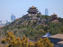 beijing porcelanowego pejzaż miejski jingshan park Obrazy Royalty Free