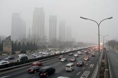 beijing porcelanowy dżemu ruch drogowy Fotografia Stock