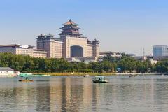 Beijing posterar den västra järnvägen Fotografering för Bildbyråer