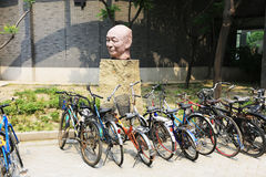 Beijing public bicycles Royalty Free Stock Images