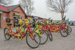 Beijing public bicycles Stock Photos