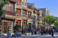 Beijing  Qianmen commercial street。 Stock Photography