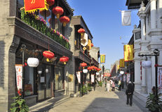 Beijing  Qianmen commercial street。 Royalty Free Stock Images