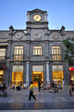 Beijing  Qianmen commercial street clock tower Royalty Free Stock Images