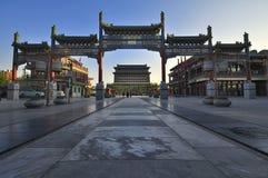 Beijing Qianmen commercialstreetã Royaltyfri Foto