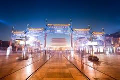 Beijing qianmen gatan Royaltyfri Bild