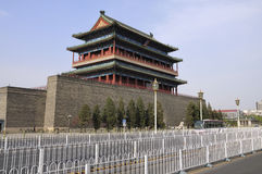Beijing   Qianmen gate tower Royalty Free Stock Images