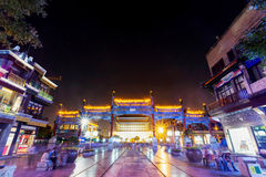 Beijing qianmen at night Stock Images