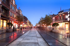 Beijing qianmen street at night Stock Images