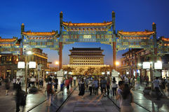 Beijing  Qianmen street Night Scenes Royalty Free Stock Image