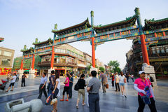 Beijing Qianmen Street shopping district Stock Photography