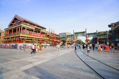 Beijing Qianmen Street shopping district Stock Image