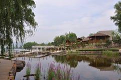 Beijing Qinglong See stockbilder