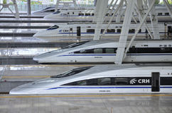 Beijing Railway Station,High Speed ​​Rail Royalty Free Stock Images