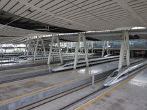 Beijing Railway Station,High Speed Rail Royalty Free Stock Photography