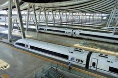 Beijing Railway Station,High Speed Rail Stock Photo