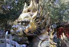Beijing. Ð'ronze lion royalty free stock images
