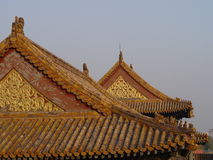 Beijing Rooftops. In Beijing, China, Tiananmen Square / Beihai Park, Forbidden City royalty free stock images
