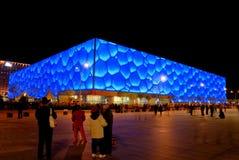 Beijing's swimming Stadium Stock Photo