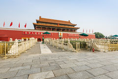 Beijing's tiananmen building scenery,in china Royalty Free Stock Images